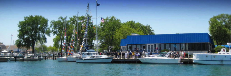 Harbor view of Waukegan Yacht Club