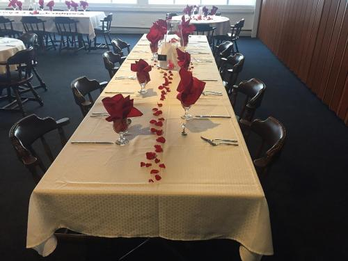 large table with settings