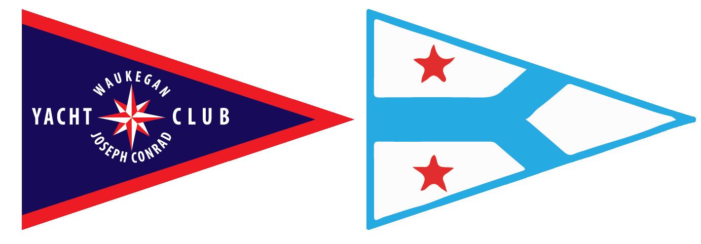 logos for the Corinthian and Waukegan | Joseph Conrad Yacht Clubs