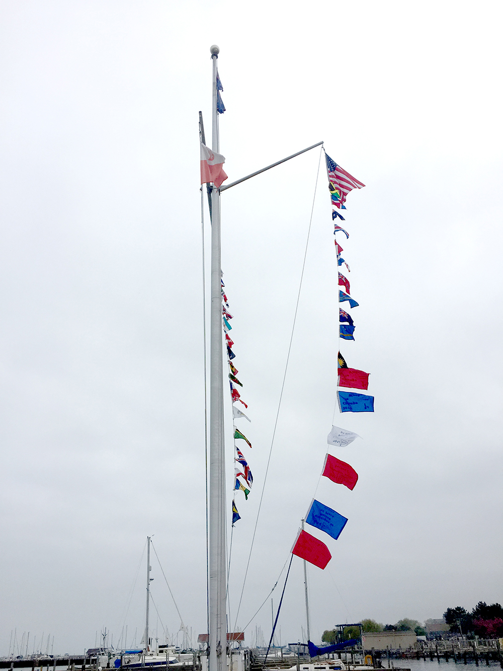 Club flagpole
