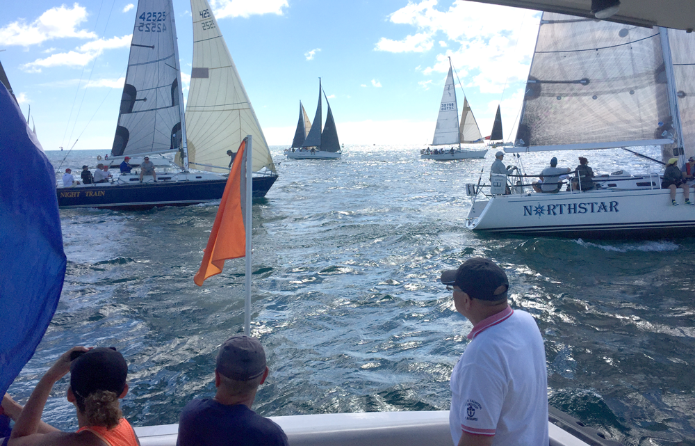 sailboat race starting line