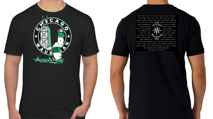 Commemorative T-shirt for 2019 Chicago-Waukegan race
