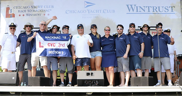 Sirocco crew accepts 2nd Place trophy