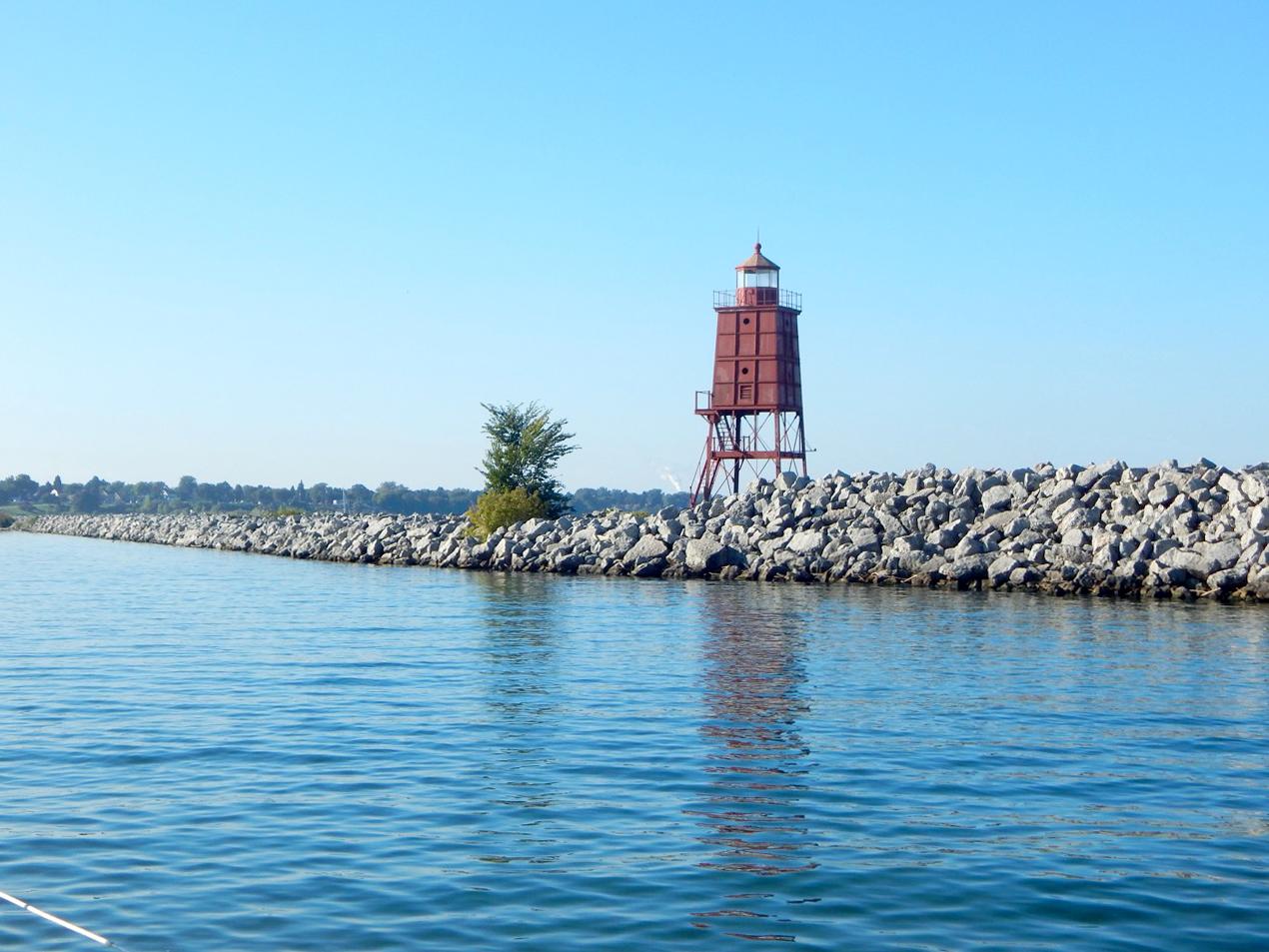 Lighthouse at Racine Harbor entrance