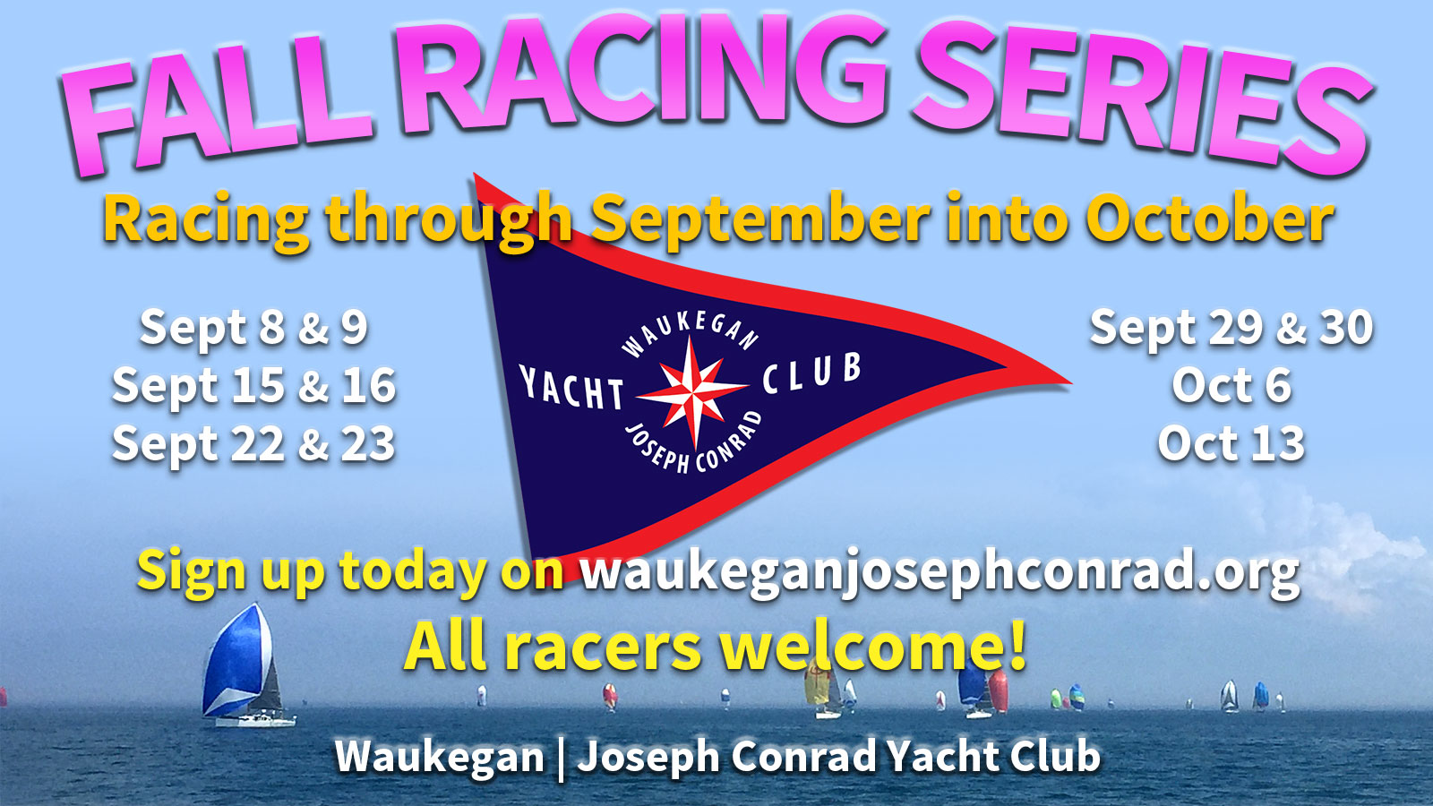 fall racing series poster