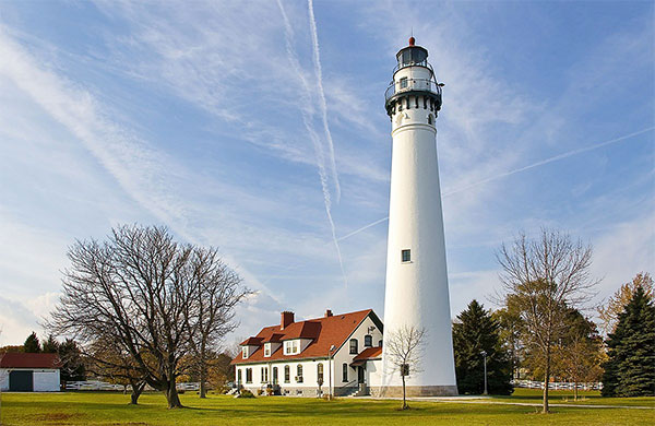 lighthouse at Racine Wisconsin