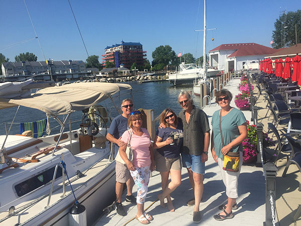 Cruisers assemble at dawn at St Joseph River Yacht Club