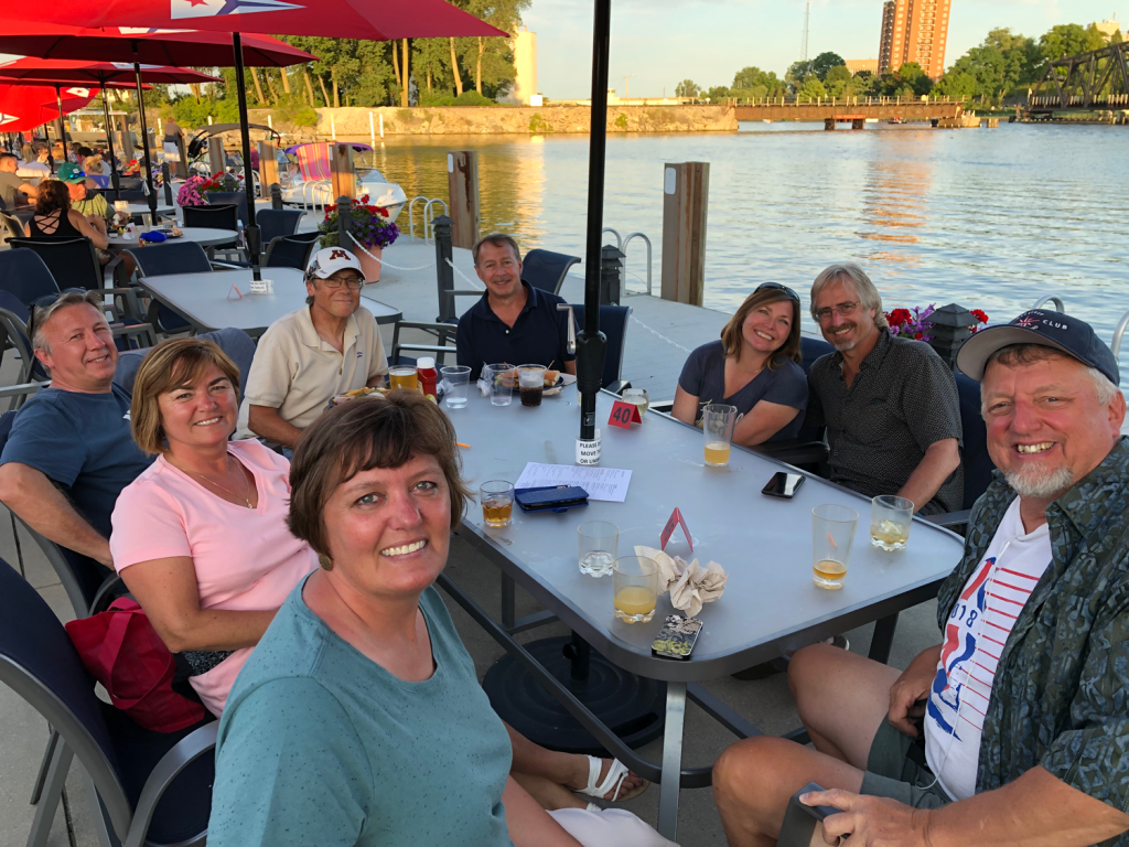 The Cruisers and some surprise guests met for dinner at the St Joe Yacht Club