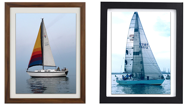 framed boat photos
