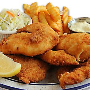 deep fried cod dinner