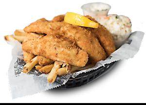 deep fried perch dinner