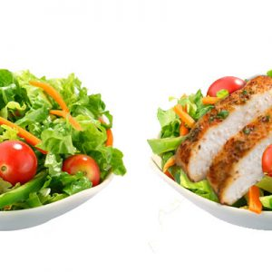 Small Side salad with and without grilled chicken