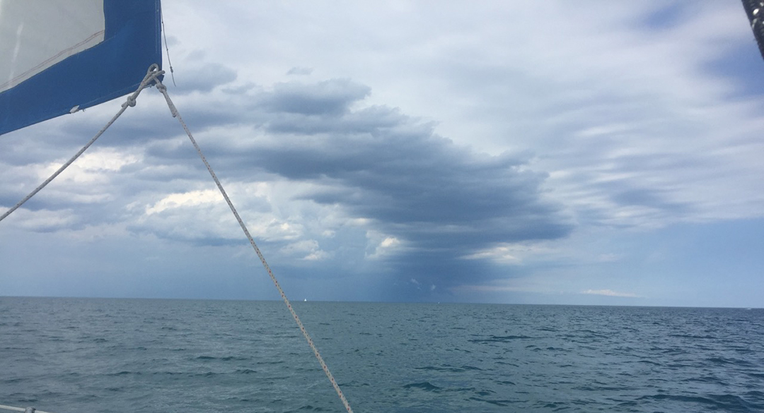 Weather over Lake Michigan