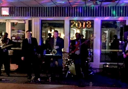The band playing at the new years eve party