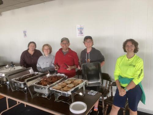 WYC JR Sail members serving breakfast